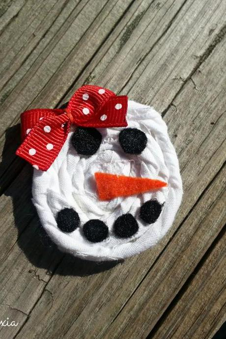 Snowman/Snow Woman Hair Clip