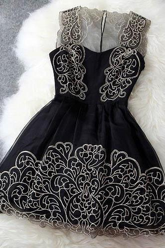 Elegant Gold Thread Embroidery Dress