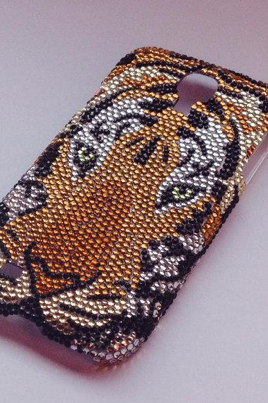 Bling case Rhinestone case Tiger case for Samsung Galaxy S4