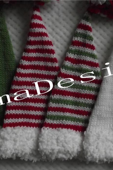 HAT Cristmas elf boy girl unigender newborn photography props 0 to 3 months handmade in Canada