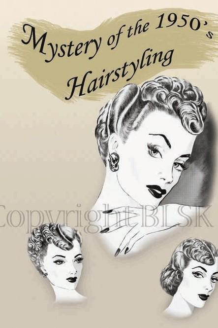 1950s Hairstyles Glam Hair Atomic Era Mid-Century