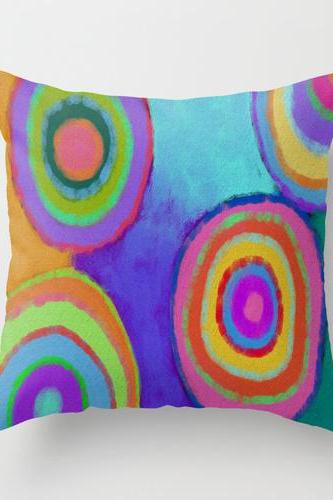 Abstract Art Decorative Throw Pillow Cover Case My Funky Abstract Digital Painting