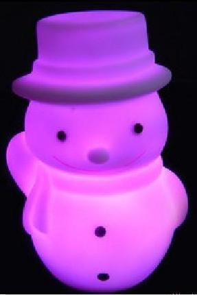 Popular Christmas gifts Colorful Christmas Snowman Nightlight