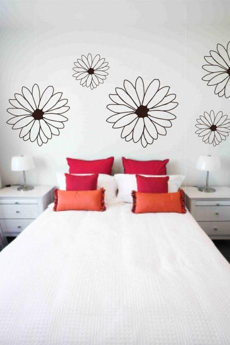 Large Floral Wall Vinyl Decals Sticker