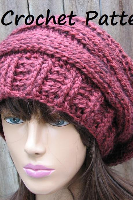 CROCHET PATTERN!!! Crochet Hat - Slouchy Hat, Crochet Pattern PDF,Easy, Great for Beginners, Pattern No. 66