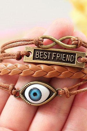 Big Eye Infinity Rope Best Friend Bracelet