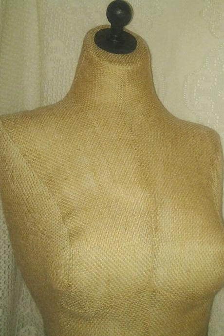 Decorative Bust form designs to the waist, life size torso great for store front display or home decor. Premier Burlap.