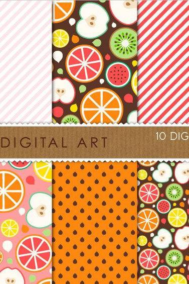 Digital Papers - Fruits