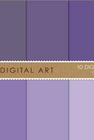 Digital Papers Purple Shades 12x12 inches - INSTANT DOWNLOAD - Buy Any 2 Packs Get 1 Free