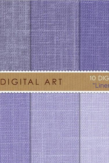 Digital Papers - Linen - Purple Shades