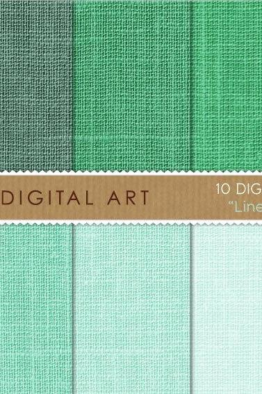 Digital Papers - Linen - Mint Shades