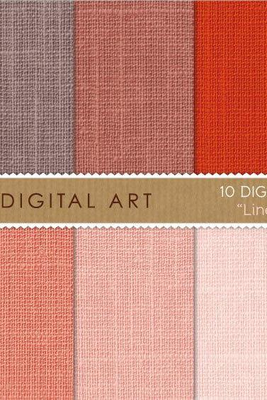 Digital Paper - Linen - Red Shades