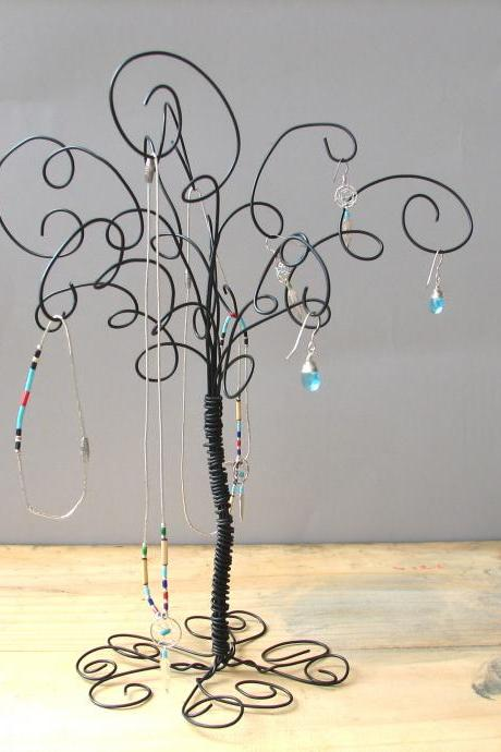 Wire Jewelry Tree Stand , Earring, Rings,Bracelets, Organizer, Display