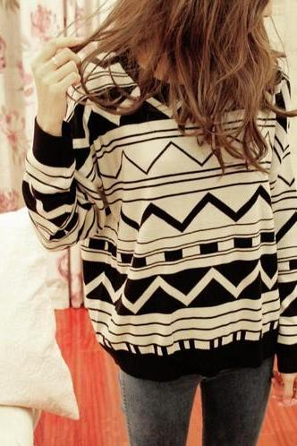 Loose pullover sweater cardigan