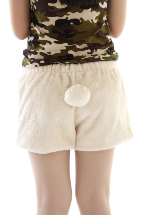 Cute stuffed bunny tail Shorts 1BADBDA