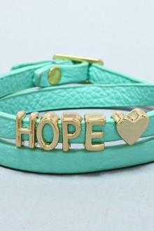 Wrap Bracelet 'Hope' Mint Green