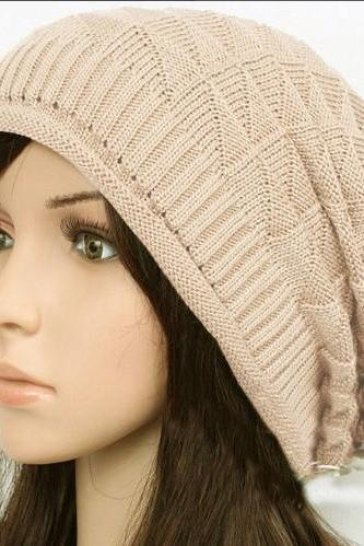 Women's Knit Hat Winter Autumn Hat Elastic Hat