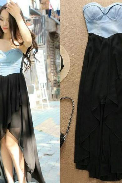 Fashion Chiffon With Cowboy Dress