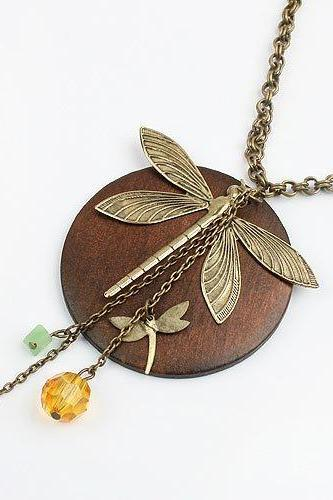 Dragonfly Necklace Europe And The United States National Air Women Jewelry