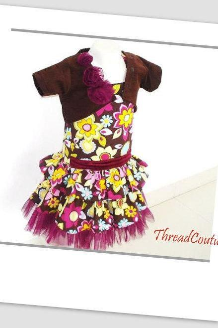 Summer Dress with Shrug, Pdf Sewing Pattern, Sewing Pattern Girl's Dress