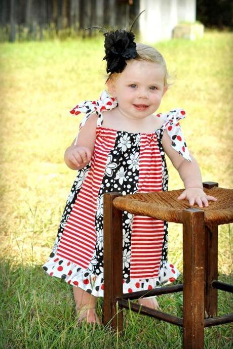 Easy Panelled Pillowcase Dress, For Beginner, Newborn to 8 years, Sewing Pattern Pdf