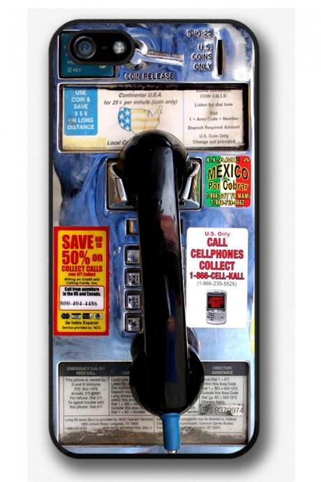 iPhone 4 4S 5 5S 5C case, iPhone 4 4S 5 5S 5C cover, Payphone