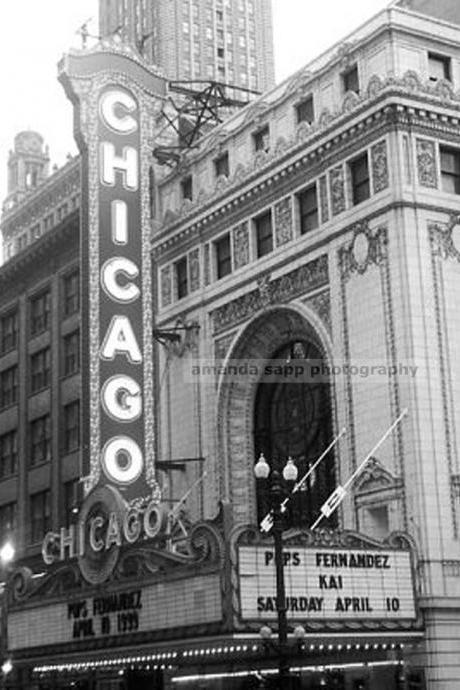 Chicago theater photograph black and white