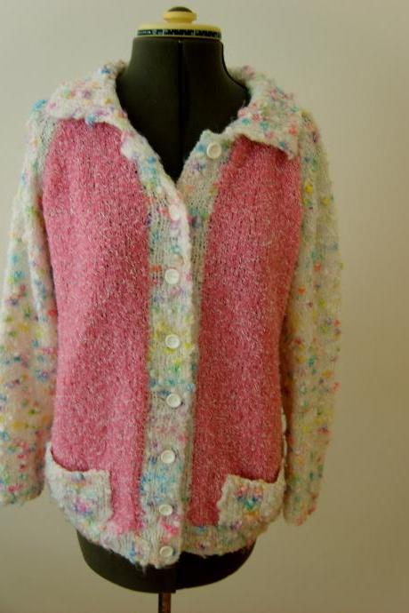 Retro Rainbow Cardigan