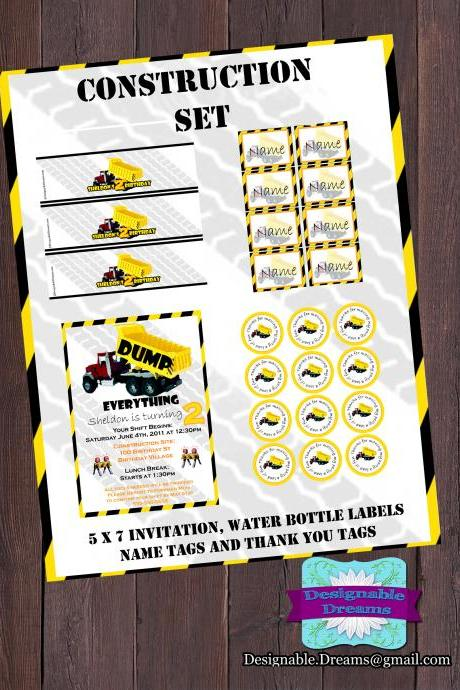 Construction Invitation & Party Package