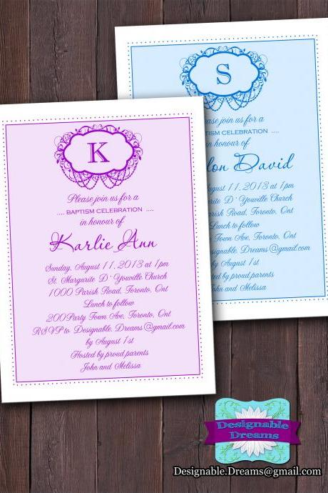 Baptism / Christening Invitation