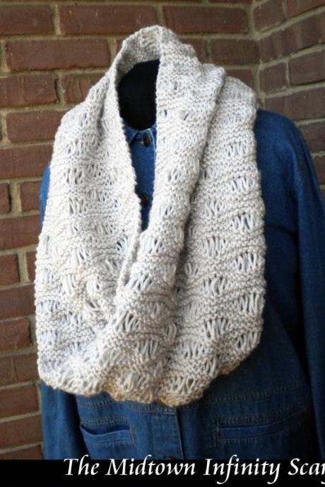 The Midtown Infinity Scarf Knitting Pattern