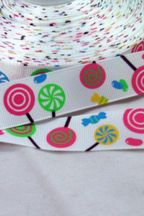 Lollipops 7/8' Grosgrain Ribbon- 1 yard