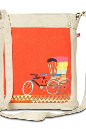 India Circus Jalebi Cycle Ride Bag, Perfect Gift Cycle Ride Hand Bag for Unisex Adult. Your BF, GF, Husband, Wife will love it.