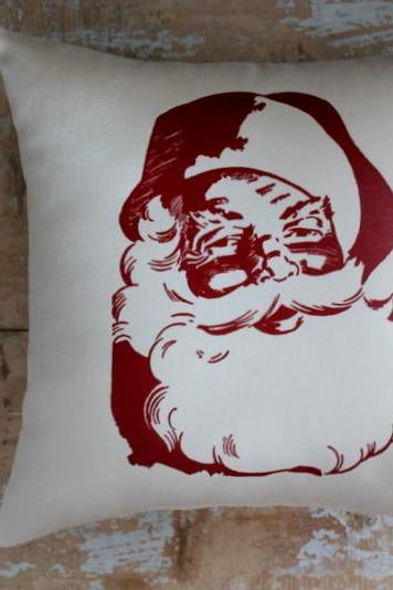 Christmas Pillow, Santa, Holiday Decoration, Chirstmas Pillow, Merry Christmas