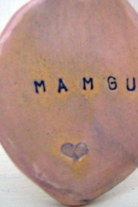 Mamgu (Grandma in Welsh) Handmade Ceramic Lovespoon. Made in Wales, UK