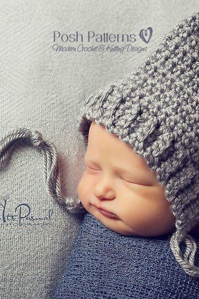Crochet Hat Pattern Easy & Elegant Pixie Hat Pattern PDF 334 Newborn to Adult Sizes