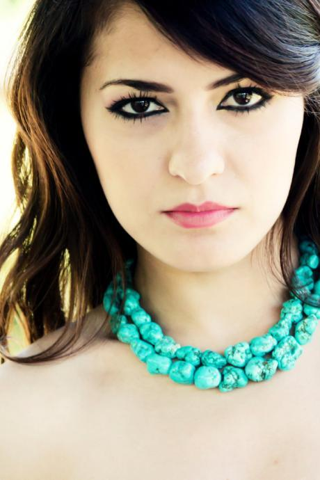 Turquoise Necklace, the Megan necklace, something blue