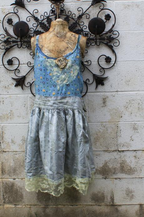 Plus Size Eco Dress Upcycled Wearable art