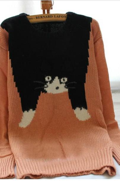 3D cat sweater