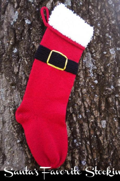 Santa's Favorite Stocking knitting pattern