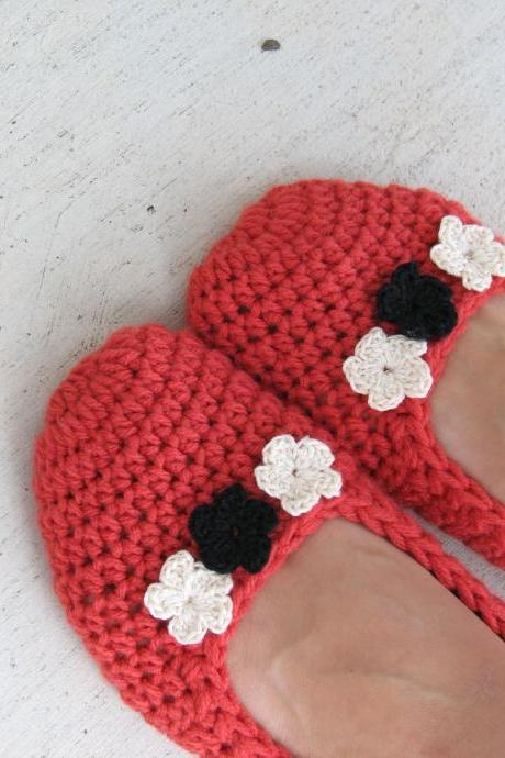 Crochet Women Slippers - Accessories, Adult Crochet Slippers, Home Shoes, Crochet Women Slippers