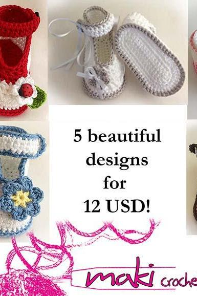 Crochet patterns - e-Book - Permission to sell finished items. Full of large pictures!