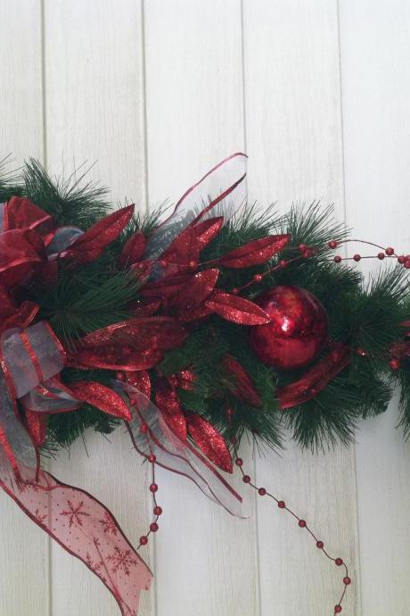Holiday hanging Decorative Christmas Pine cones