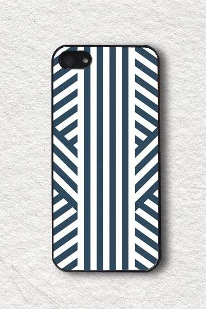 iphone Case for iphone 4, iphone 4s, iphone 5, iphone 5s, iphone Cover, Protecive iphone case - Modern Stripes Fashion