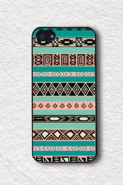 iphone Case for iphone 4, iphone 4s, iphone 5, iphone 5s, iphone Cover, Protecive iphone case - Tribal Aztec Pattern