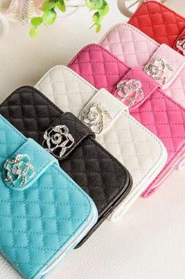 Rose Leather Case Cover Wallet For iPhone 5 5s