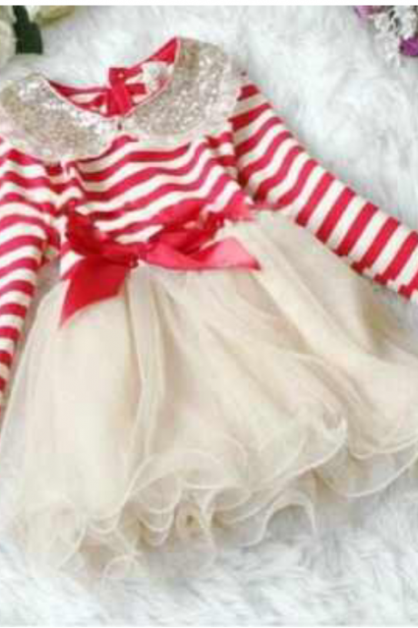 Free Shipping! Christmas Dress Toddler Girl Christmas Dress /Girls Red Dress Christmas Dress Girls Tutu Dress Long Sleeve Christmas Dress Toddler Children