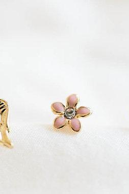 gold wing stud earrings and cartilage earrings set/stud earrings/girl earrings/men earrings/,E001R