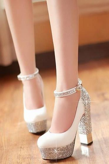 Thick with sequins for women's shoes BCBCD