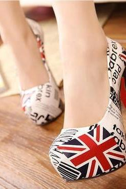Flag m word super high heels shoes BCBCBA